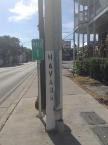 So close, Mile 1 Key West